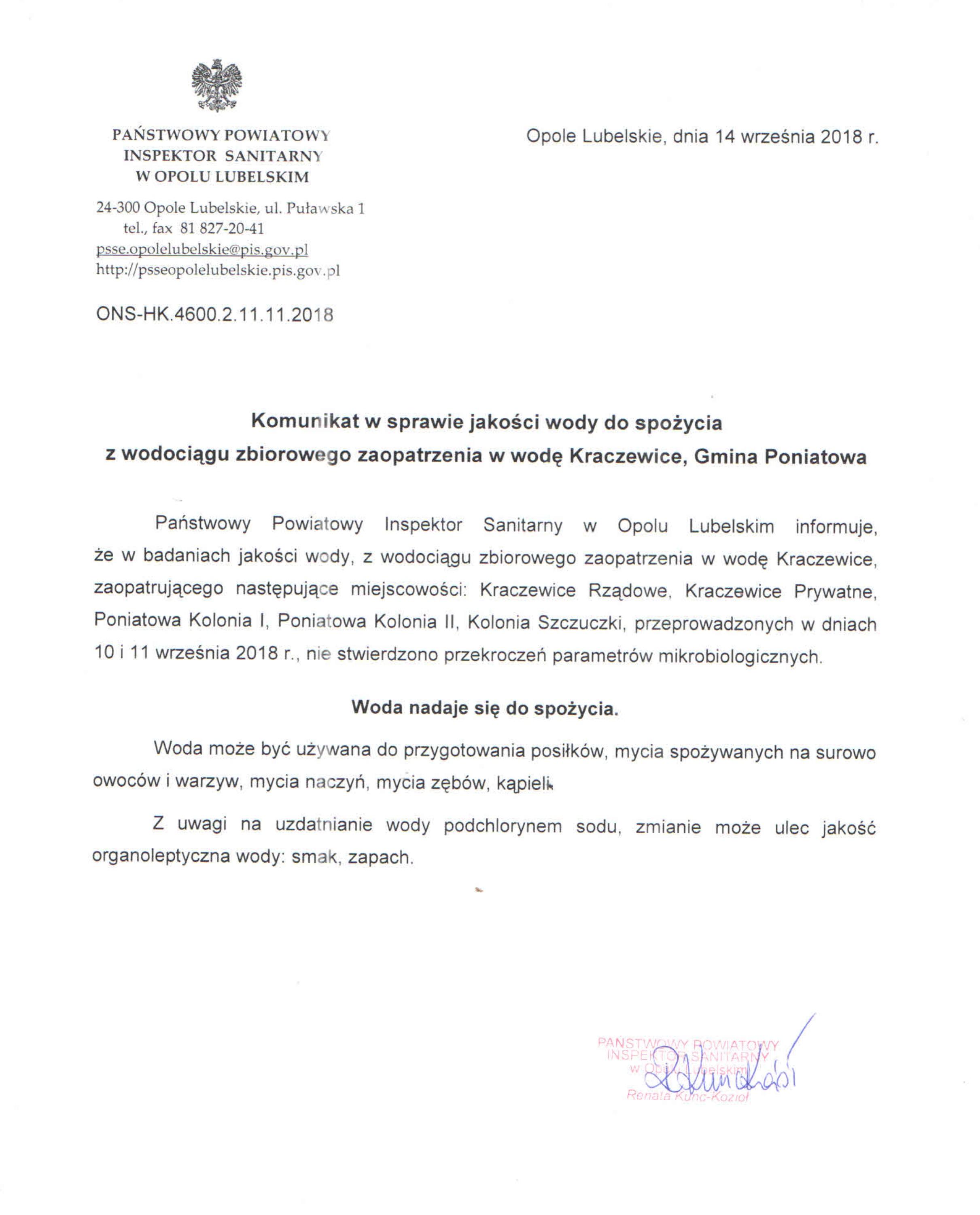 komunikat_wzz Kraczewice 14.09.2018